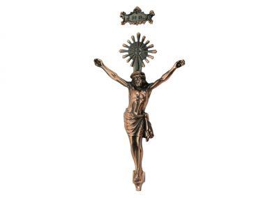 Cristo cobreado metálico